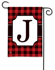 Buffalo Check Monogram J Garden Flag