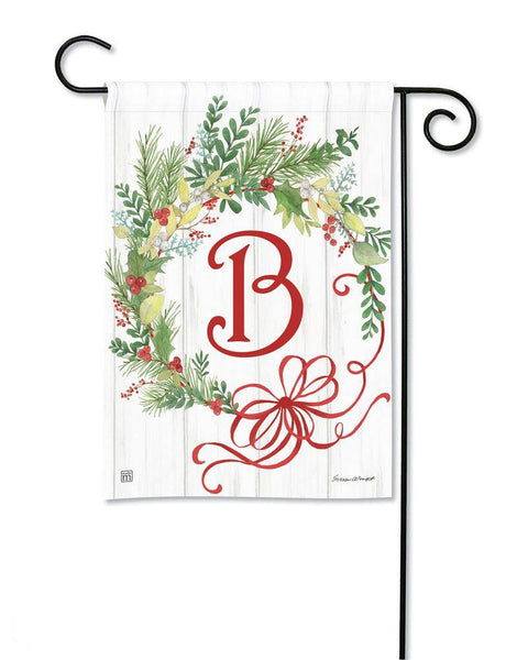 Winterberry Monogram B Garden Flag