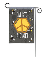 Give Bees a Chance Garden Flag