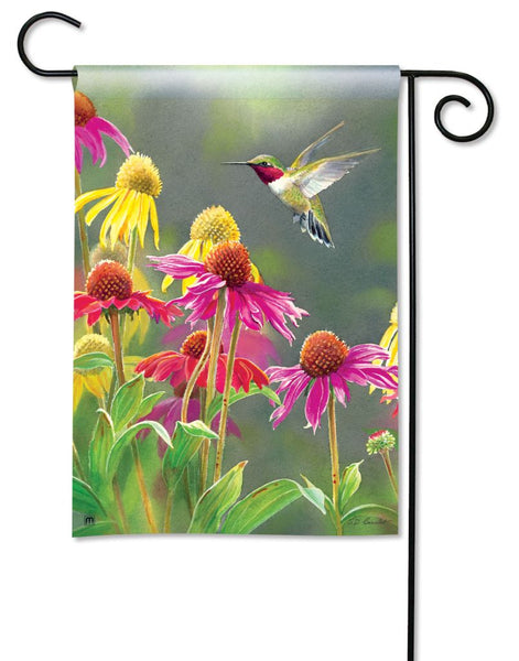 Hummingbird Heaven Garden Flag