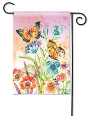Butterfly Blossoms Garden Flag