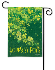 Shamrock Shower Garden Flag