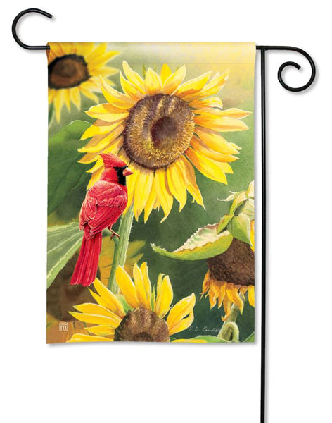 Sunflower Cardinal Garden Flag