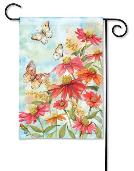 Summer Zinnias Garden Flag