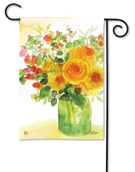 Yellow Roses Garden Flag