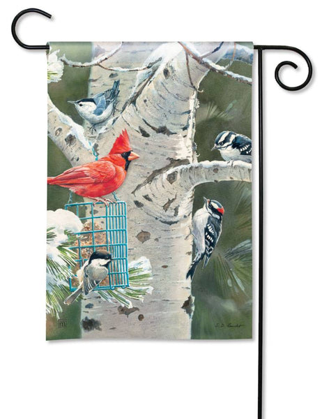 Winter Birds Garden Flag