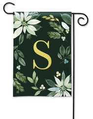 Poinsettia Joy Monogram S Garden Flag