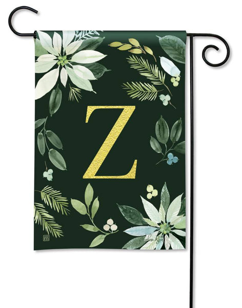 Poinsettia Joy Monogram Z Garden Flag