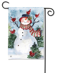 Snowman Friends Garden Flag