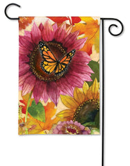 Sunflower Butterfly Garden Flag