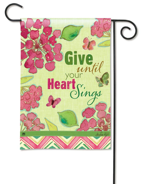 Heart Sings Garden Flag