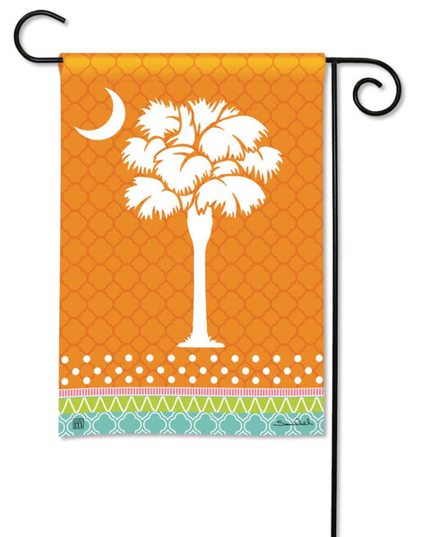 Preppy Palmetto Garden Flag