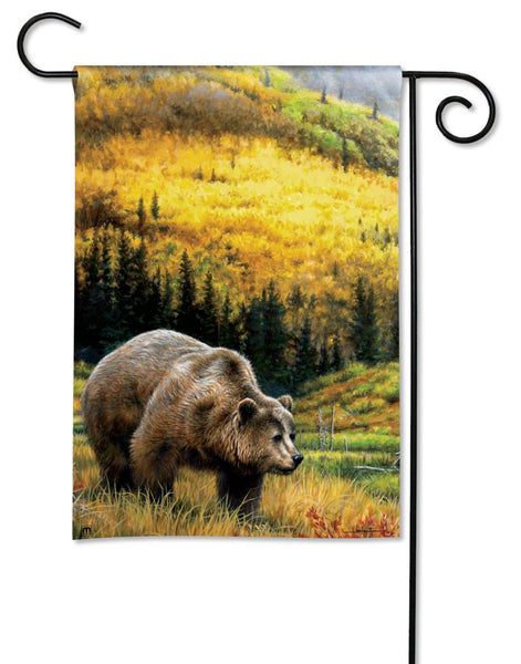 Grizzly Bear Garden Flag