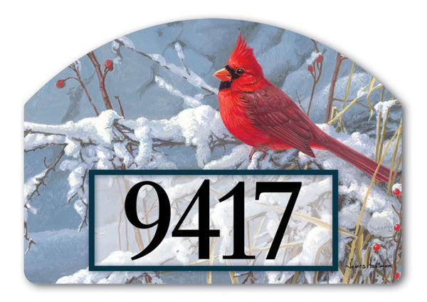 Cardinal in Snow Yard DeSign
