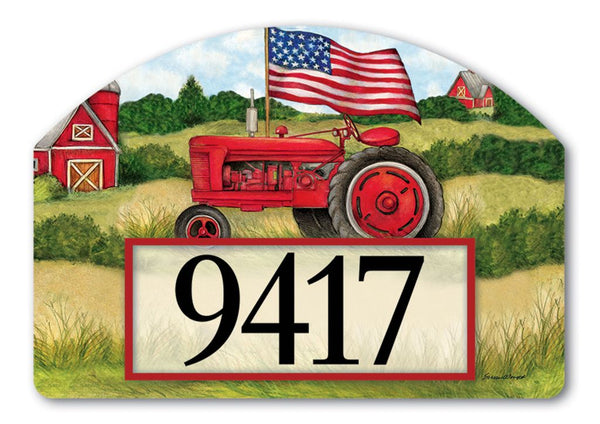 Patriotic Tractor Yard Design