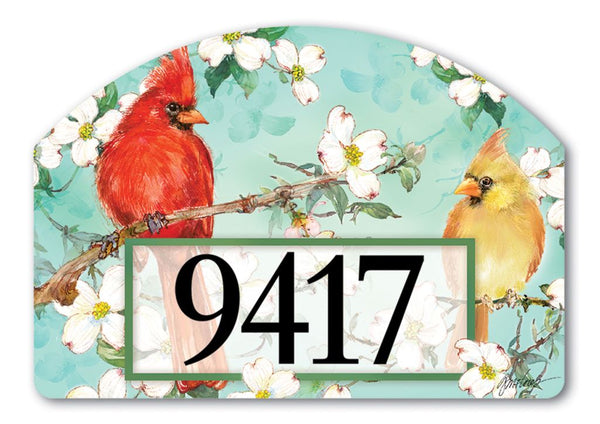 Cardinals in Spring Yard DeSign