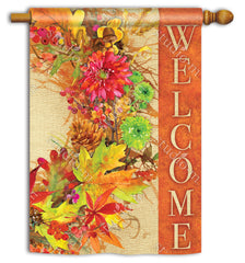 Autumn Wreath Standard Flag