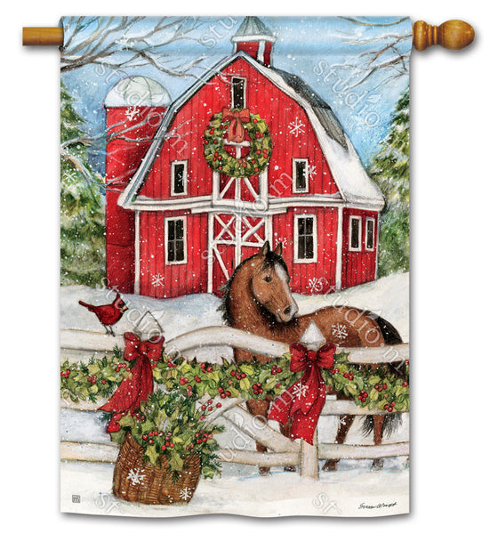 Christmas on the Farm Standard Flag