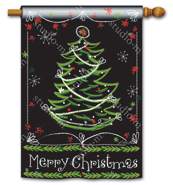 Blackboard Christmas DS Standard Flag