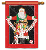 Santa Greetings Standard Flag