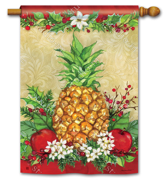 Holiday Pineapple Standard Flag