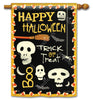 Skeleton Halloween Standard Flag