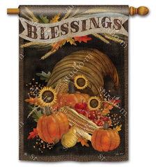 Cornucopia Blessings Standard Flag