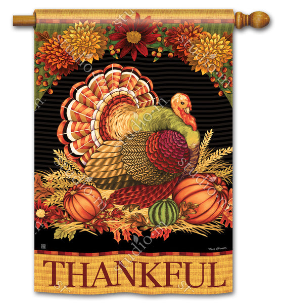 Thankful Turkey DS Standard Flag