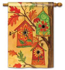 Fall Birdhouses Standard Flag