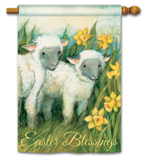 Easter Blessings DS Standard Flag