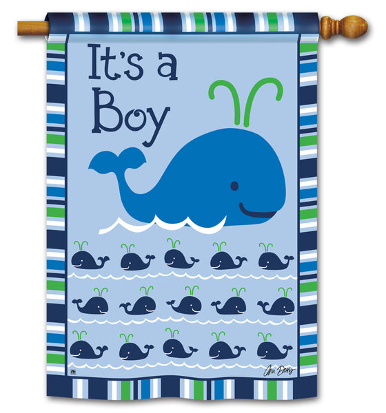 Whales - It's a Boy Standard Flag