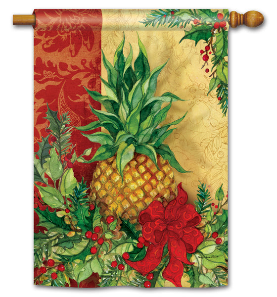 Christmas Pineapple Standard Flag