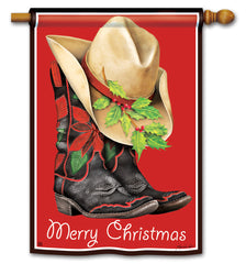 Cowboy Christmas DS Standard Flag