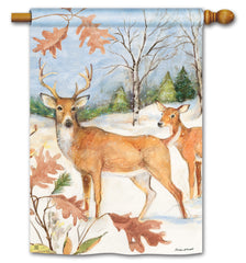 Winter Deer Standard Flag