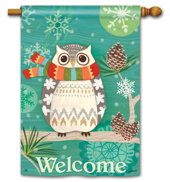 Winter Owl DS Standard Flag
