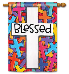 Colorful Crosses Standard Flag