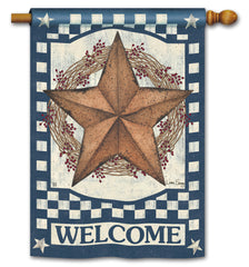 Blue Barn Star DS Standard Flag