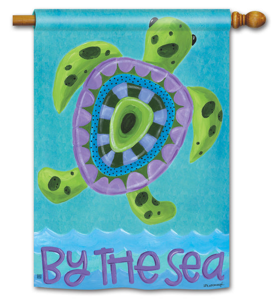 Turtle by the Sea DS Standard Flag
