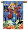 Moonlight Scarecrow Standard Flag