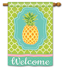 Preppy Pineapple DS Standard Flag