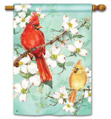 Cardinals in Spring Standard Flag