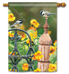 Chickadee Fence Post Standard Flag