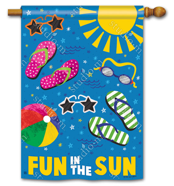 Summertime Fun Standard Flag