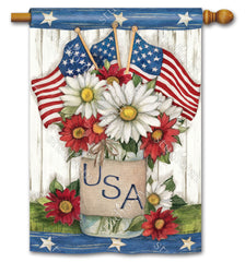 USA Mason Jar Standard Flag