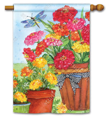 Marigolds and Zinnias Standard Flag