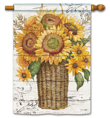 Farmhouse Sunflower Standard Flag
