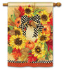 Sunflower Wreath Standard Flag