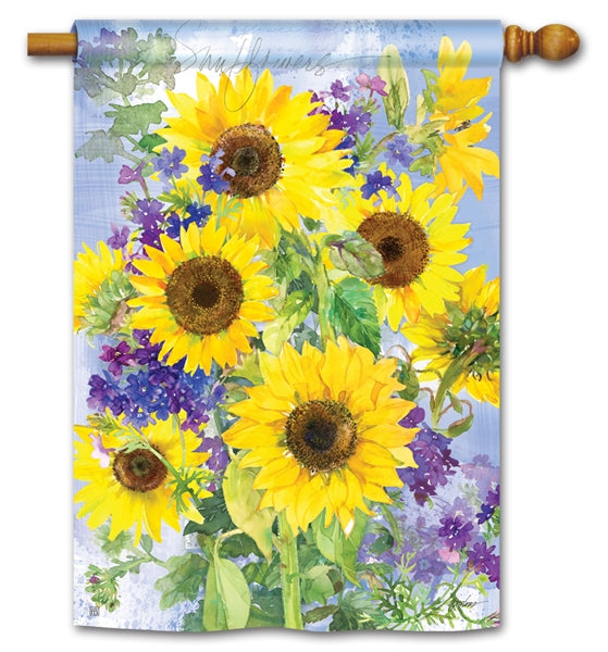 Sunflower Burst Standard Flag