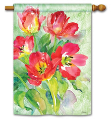 Red Tulips Standard Flag