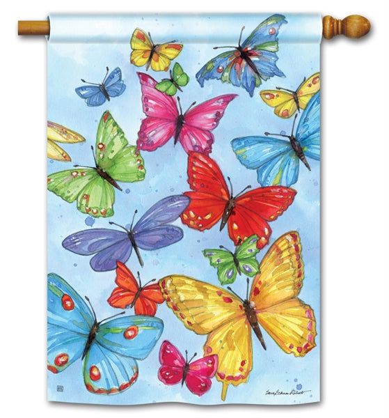 Brilliant Butterflies Standard Flag
